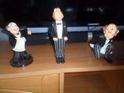 3 wunderschöne Kellnerfiguren