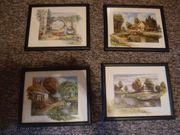 Vier kleine Landschaftsbilder