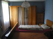 60er Jahre Schlafzimmer Kleiderschrank Doppelbett