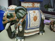 Elefant als Blumenständer 50cm hoch