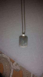 Silberkette mit Schriftzug Michaela und