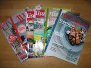 Verschiedene Wohn- Essen Zeitschriften zu