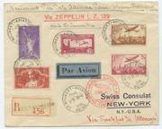 Frankreich Zeppelin R Brief Nordamerikafahrt