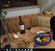 Essecke Tisch und Stuhl Eiche