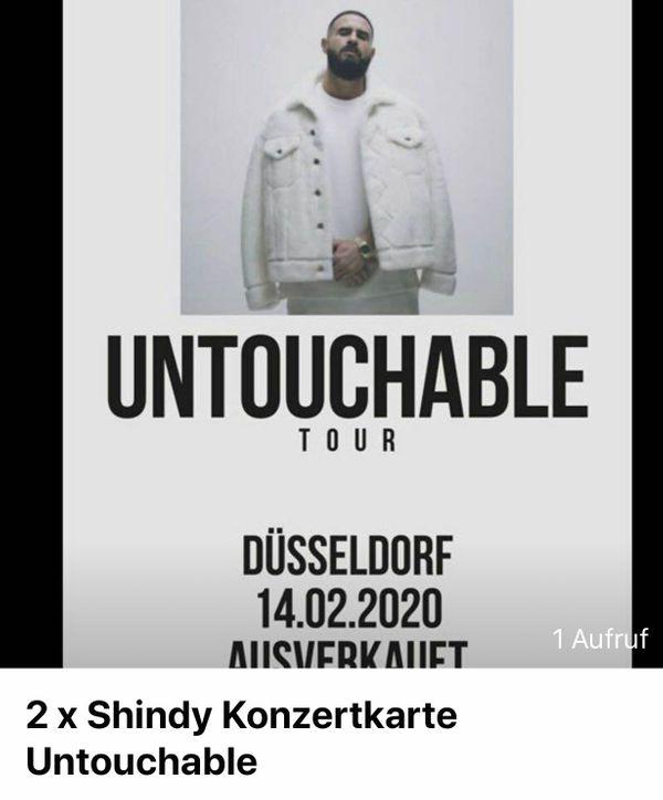 Shindy Konzert Tickets Karten Untouchable