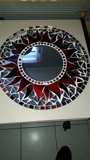 Mosaik Spiegel 40 cm Duschmesser