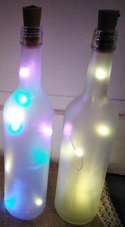 12 x Led Leuchtweinflaschen
