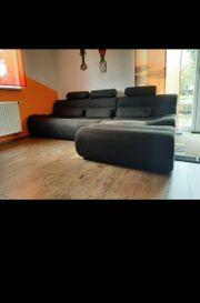 Sofa L-Förmig grau schwarz 2