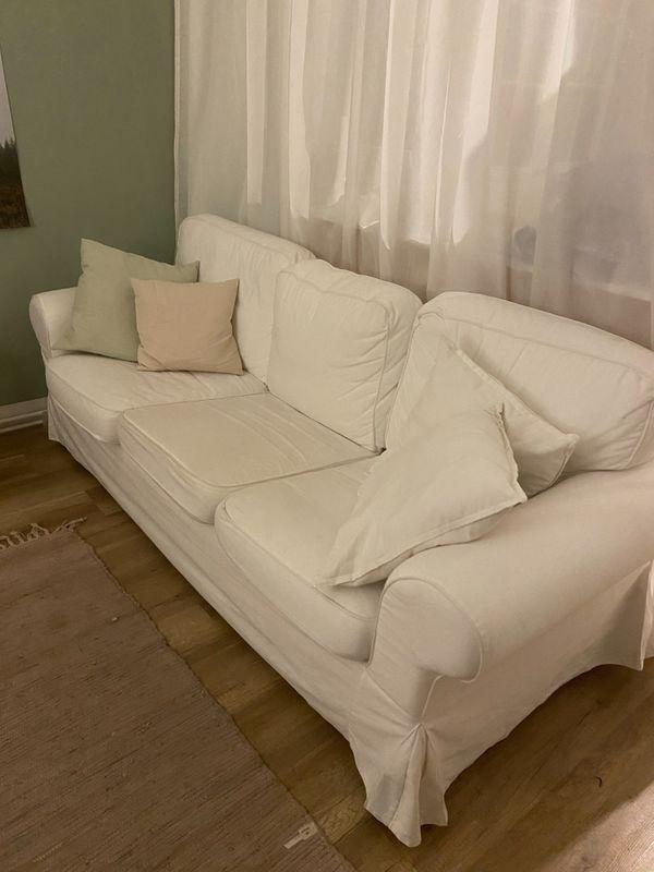 IKEA Ektorp 3-Sitzer Couch weiß