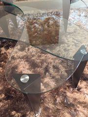 2 Glas-Couchtische Nierenform variierbar