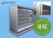 Bauzaun AP1 verzinkt 18kg Betonstein