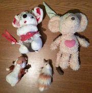 Stofftiere - 4 Mäuse nur zusammen