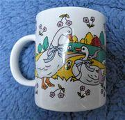 Tasse Bechertasse Keramik mit Motiv