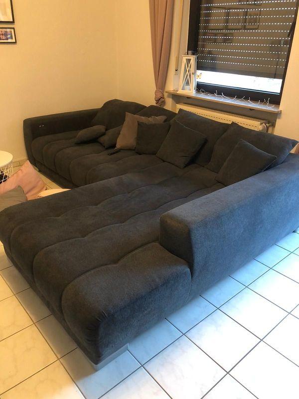 Wohnlandschaft Couch/Sofa Fb. anthrazit grau TOP!