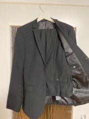 Herren Anzug Schwarz G 46