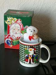 Weihnachtsmann Tasse im Originalkarton unbenutzt