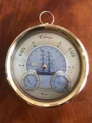 Messing Barometer Wetterstation