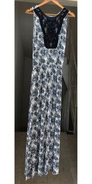 Blau-weißes Sommerkleid Größe S 36