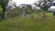 Mobile Bambus-Jurte für Seminare Festivals