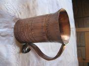 schwere Kupfer-Blumenvase Kupferbecher Vase mit