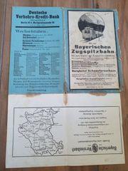 karte Zugspitzebahn 1934