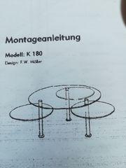 Designer Glastisch rund