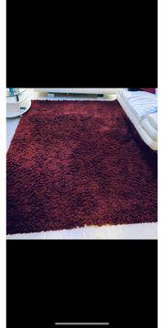 Teppich Shaggy Rot Set Wohnzimmer