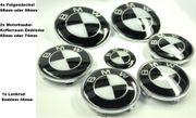 BMW Logos Embleme Schwarz Weiß