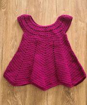 Wundervolles selbstgehäkeltes Kleid Gr 62-68