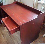 Schreibtisch Vollholz rotbraun