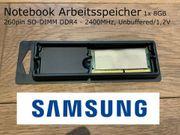 Samsung 1x 8GB RAM 260pin