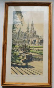 Bild Aquarell A Hansch Dresden