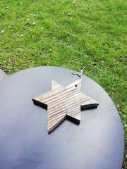 Holzstern Gartendeko