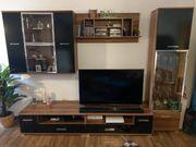 Wohnwand 5tlg schwarz braun
