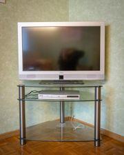 Glas TV-Rack Fernseh-Tisch Eck-Regal