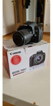 Canon EOS700d mit Objektiv