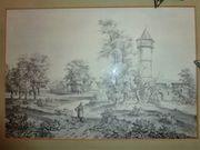 alte Drucke Radierungen Landschaftsbilder Häring