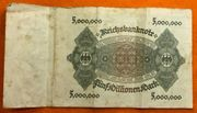 Inflationsgeld Fünfzigtausend Mark Fünf Millionen