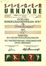 Abzeichen Auszeichnung Anstecknadel Bundesjugendspiele Walsum
