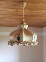 Rustikale Hängelampe Landhaus bestickt