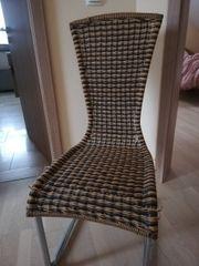 Stuhl Korbstuhl Kunststoff Rattanstuhl mit