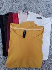 T-Shirts langärmlig Basic 7 Stück