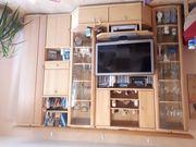 Wohnzimmer Anbauwand Buche