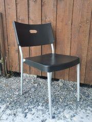Ikea Herman Stühle schwarz grau