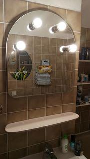 Badspiegel incl 4 LED-Leuchtmitteln