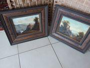 2 alte Bilder in Öl