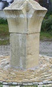 Elbsandstein Traventin Granit Pfeiler Stehle
