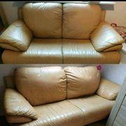 Ledercouch Couch Set 2er und