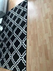 Teppich schwarz weiß