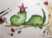 Dino Baby Bild Kinderzimmer Deko
